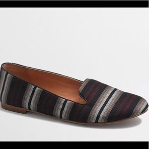 J. Crew Factory Cora Striped Loafers